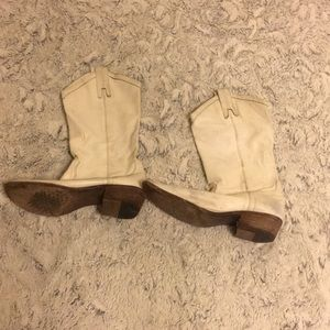 Used Frye size 10B white boots